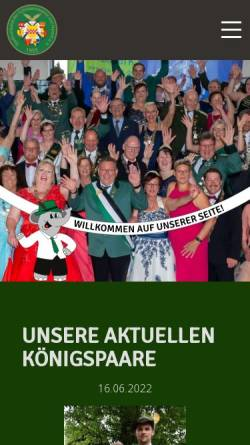 Vorschau der mobilen Webseite www.hamm-horrido.de, Stadtverband der Schützenvereine von Hamm/Westf.