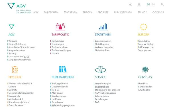 Vorschau von www.agv-vers.de, Arbeitgeberverband der Versicherungsunternehmen in Deutschland