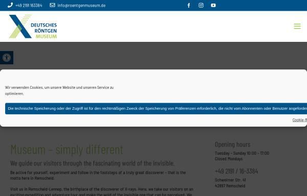 Vorschau von www.roentgenmuseum.de, Deutsches Röntgen-Museum