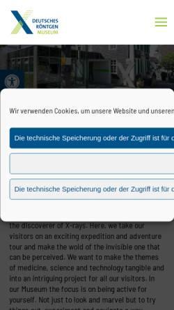 Vorschau der mobilen Webseite www.roentgenmuseum.de, Deutsches Röntgen-Museum