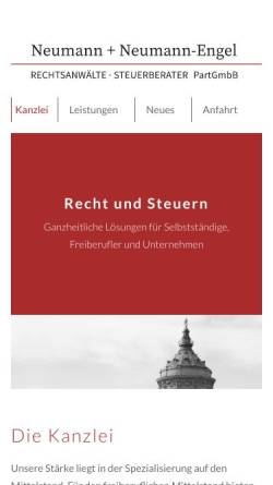 Vorschau der mobilen Webseite www.nn-e.de, Neumann + Neumann-Engel