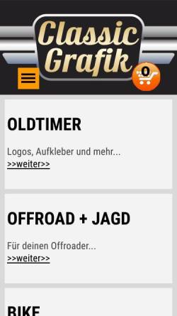 Vorschau der mobilen Webseite www.classic-grafik.de, Classic Grafik, Jürgen Gadomski