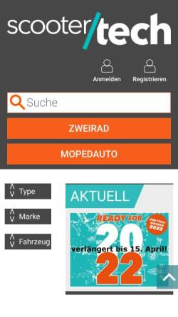 Vorschau der mobilen Webseite www.scootertech.at, Scootertech