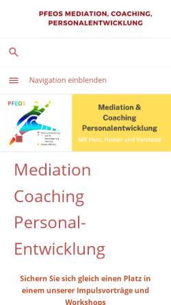 Vorschau der mobilen Webseite www.pfeos.de, Pfeos - Gisela Krämer