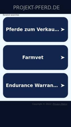 Vorschau der mobilen Webseite www.projekt-pferd.de, Projekt:pferd