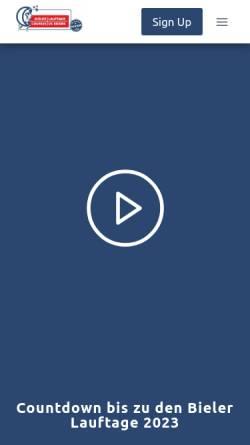 Vorschau der mobilen Webseite www.100km.ch, Bieler Lauftage