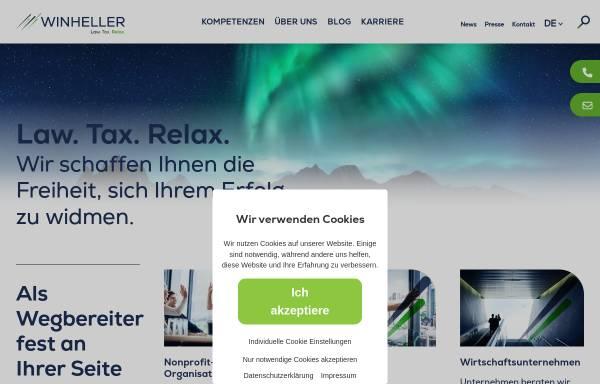 Vorschau von www.winheller.com, WINHELLER Rechtsanwaltsgesellschaft mbH