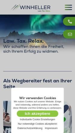 Vorschau der mobilen Webseite www.winheller.com, WINHELLER Rechtsanwaltsgesellschaft mbH