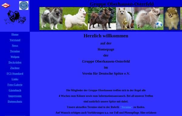 Vorschau von www.spitze-oberhausen.de, Gruppe Oberhausen im Verein für Deutsche Spitze e.V