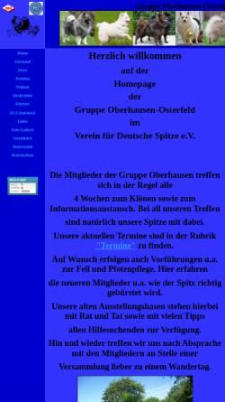 Vorschau der mobilen Webseite www.spitze-oberhausen.de, Gruppe Oberhausen im Verein für Deutsche Spitze e.V