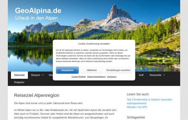 Vorschau von www.geoalpina.de, Geoalpina