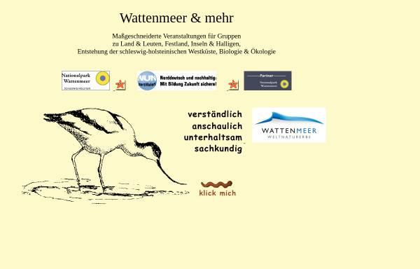 Vorschau von www.wattenmeerundmehr.de, Wattwandern in Nordfriesland