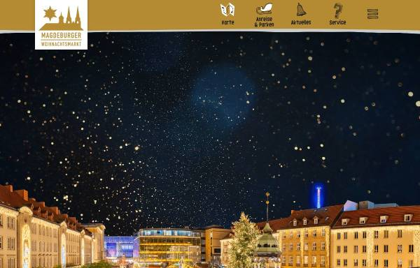 Vorschau von www.weihnachtsmarkt-magdeburg.de, Magdeburger Weihnachtsmarkt - Gesellschaft zur Durchführung der Magdeburger Weihnachtsmärkte mbH