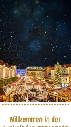 Vorschau der mobilen Webseite www.weihnachtsmarkt-magdeburg.de, Magdeburger Weihnachtsmarkt - Gesellschaft zur Durchführung der Magdeburger Weihnachtsmärkte mbH