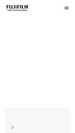 Vorschau der mobilen Webseite www.fujifilm.de, Fuji Photo Film Europe GmbH