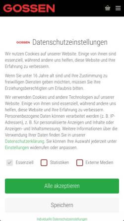 Vorschau der mobilen Webseite www.gossen-photo.de, Gossen Foto- und Lichtmesstechnik