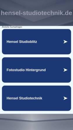 Vorschau der mobilen Webseite www.hensel-studiotechnik.de, Hensel Studiotechnik GmbH & Co. KG