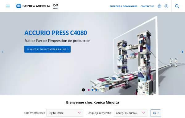 Vorschau von www.konicaminolta.ch, Konica Minolta AG