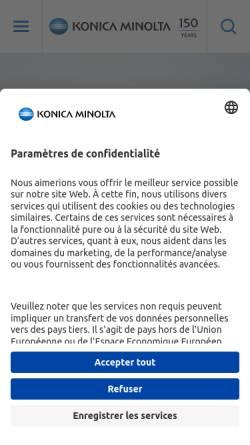 Vorschau der mobilen Webseite www.konicaminolta.ch, Konica Minolta AG