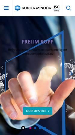 Vorschau der mobilen Webseite www.minolta.at, Minolta Austria