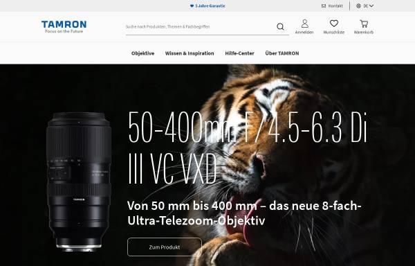 Vorschau von www.tamron.eu, Tamron Europe GmbH