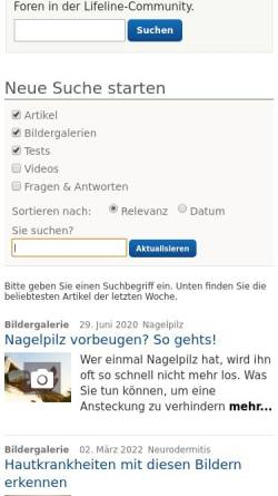 Vorschau der mobilen Webseite www.qualimedic.de, Windpocken