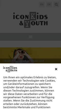 Vorschau der mobilen Webseite www.iconkids.com, Iconkids & Youth International Research GmbH