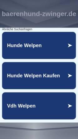 Vorschau der mobilen Webseite www.baerenhund-zwinger.de, Heideck´s von der Bergbreite