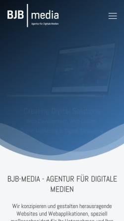 Vorschau der mobilen Webseite www.bjb-media.at, BJB-media