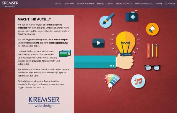 Vorschau von www.kremser.at, Kremser webdesign multimedia