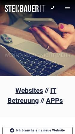 Vorschau der mobilen Webseite www.steinbauer-it.com, Steinbauer