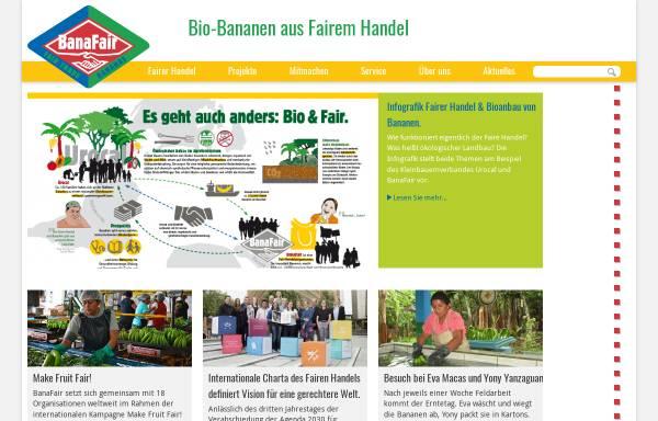 Vorschau von www.banafair.de, BanaFair - Die krumme Welt der Banane