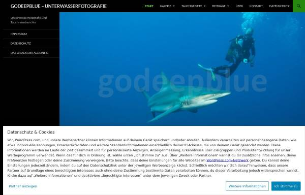 Vorschau von www.godeepblue.de, Reuter, Matthis