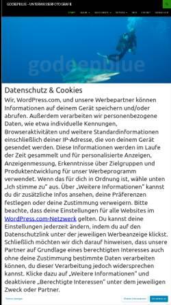 Vorschau der mobilen Webseite www.godeepblue.de, Reuter, Matthis