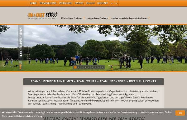 Vorschau von www.agenturinundout.de, Agentur IN und OUT