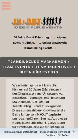Vorschau der mobilen Webseite www.agenturinundout.de, Agentur IN und OUT