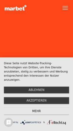 Vorschau der mobilen Webseite www.marbet.com, marbet creative services