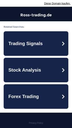 Vorschau der mobilen Webseite www.ross-trading.de, Ross Trading GmbH