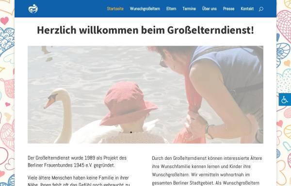 Vorschau von www.grosselterndienst.de, Großelterndienst - des Berliner Frauenbundes 1945 e.V