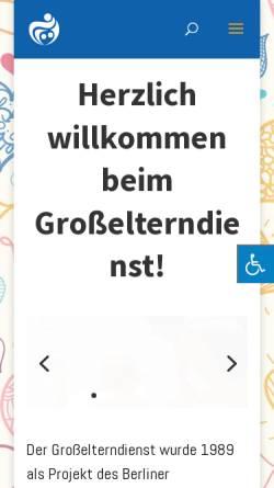 Vorschau der mobilen Webseite www.grosselterndienst.de, Großelterndienst - des Berliner Frauenbundes 1945 e.V
