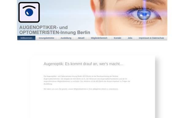Vorschau von www.aoi-berlin.de, Augenoptiker-Innung Berlin