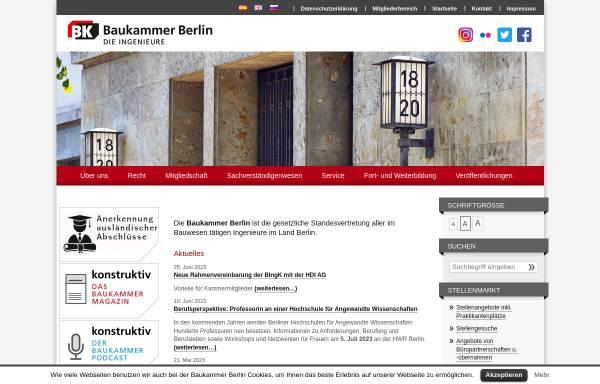 Vorschau von www.baukammerberlin.de, Baukammer Berlin