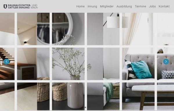 Vorschau von www.berliner-innung.de, Berliner Raumausstatter und Sattler Innung