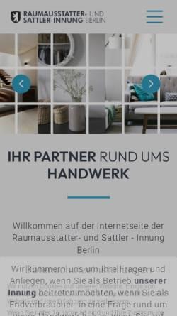 Vorschau der mobilen Webseite www.berliner-innung.de, Berliner Raumausstatter und Sattler Innung