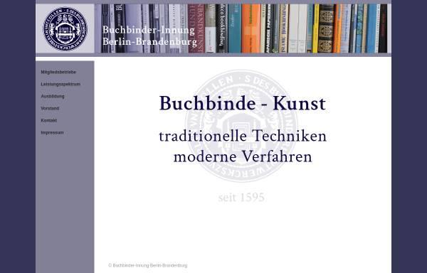 Vorschau von www.buchbinder-innung-bb.de, Buchbinderinnung Berlin und Brandenburg