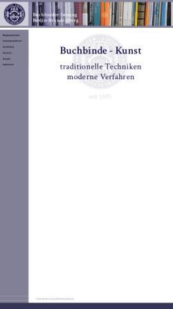 Vorschau der mobilen Webseite www.buchbinder-innung-bb.de, Buchbinderinnung Berlin und Brandenburg
