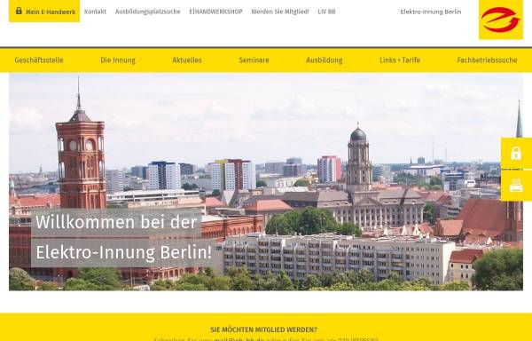 Vorschau von www.elektroinnung-berlin.de, Elektro Innung Berlin