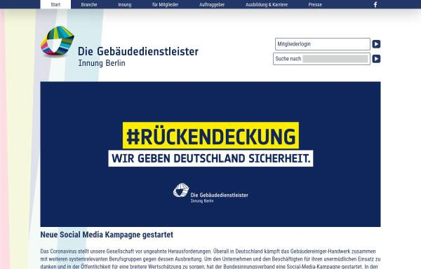 Vorschau von www.gebaeudereiniger-berlin.de, Gebäudereiniger Innung - Berlin