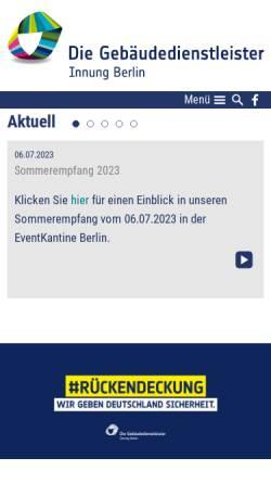 Vorschau der mobilen Webseite www.gebaeudereiniger-berlin.de, Gebäudereiniger Innung - Berlin