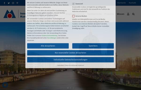Vorschau von www.metallinnung.de, Innung für Metall- und Kunststofftechnik Berlin